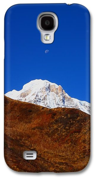 Studio Photographs Galaxy S4 Cases - Annapurna South Moon Rise Galaxy S4 Case by FireFlux Studios