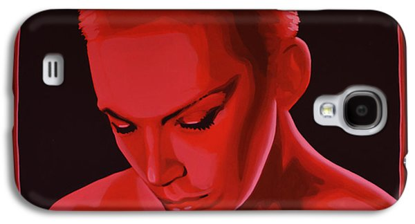 The Kings Paintings Galaxy S4 Cases - Annie Lennox Galaxy S4 Case by Paul  Meijering