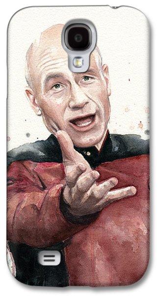 Star Trek Galaxy S4 Cases - Annoyed Picard Meme Galaxy S4 Case by Olga Shvartsur