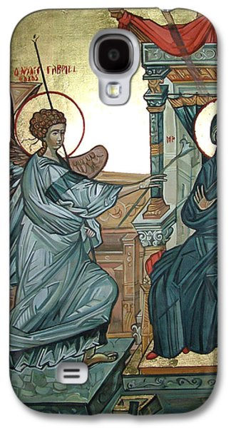 Byzantine Paintings Galaxy S4 Cases - Annunciation Galaxy S4 Case by Filip Mihail