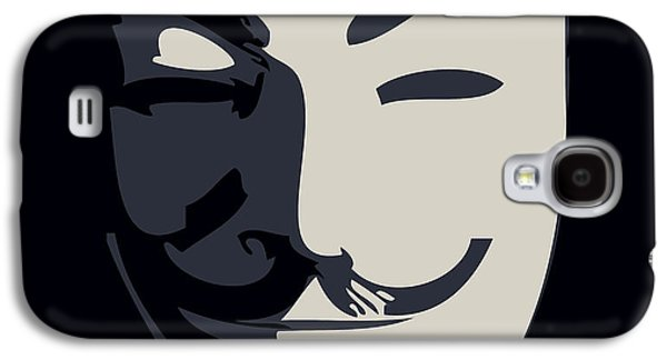 Protesters Galaxy S4 Cases - Anonymous Guy Fawkes Galaxy S4 Case by Pixel Chimp