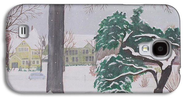 New England Snow Scene Paintings Galaxy S4 Cases - Another Snow Fall Galaxy S4 Case by Hilda and Jose Garrancho