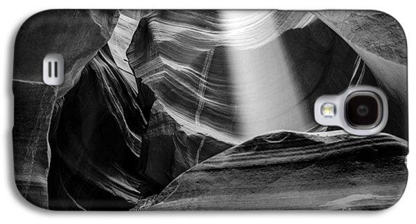 Magical Photographs Galaxy S4 Cases - Antelope Canyon Beam 2 Galaxy S4 Case by Az Jackson