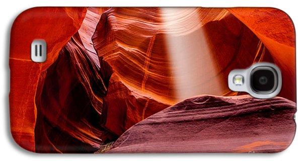Magical Photographs Galaxy S4 Cases - Antelope Canyon Beam Galaxy S4 Case by Az Jackson