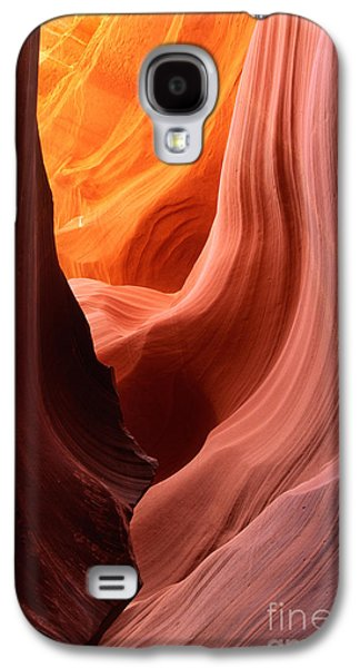 Landscapes Photographs Galaxy S4 Cases - Antelope Drapes Galaxy S4 Case by Inge Johnsson