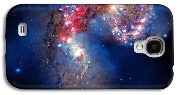 The Heavens Galaxy S4 Cases - Antennae Galaxies Collide 2 Galaxy S4 Case by The  Vault - Jennifer Rondinelli Reilly