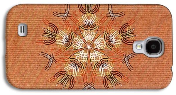 Shamanism Galaxy S4 Cases - Anthropomorphic Mandala Galaxy S4 Case by Hakon Soreide