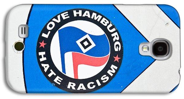 Hamburg Galaxy S4 Cases - Anti-racism sticker Galaxy S4 Case by Tom Gowanlock
