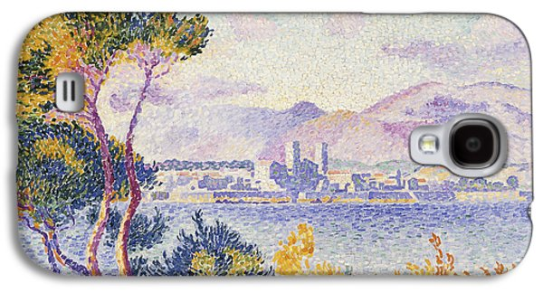 Pointillist Paintings Galaxy S4 Cases - Antibes Afternoon Galaxy S4 Case by Henri Edmond Cross