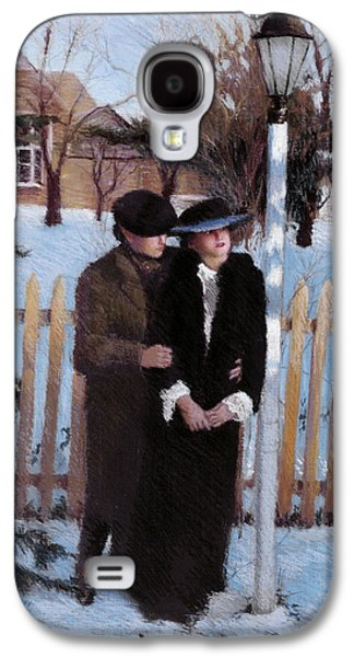 Winter Scene Pastels Galaxy S4 Cases - Anticipation II Galaxy S4 Case by Susan Kuznitsky
