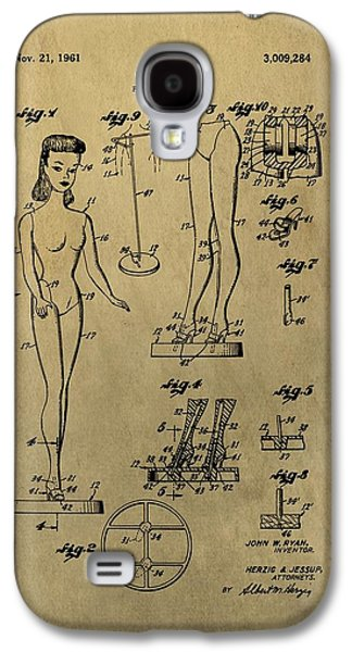 Toy Store Galaxy S4 Cases - Antique Barbie Doll Patent Galaxy S4 Case by Dan Sproul
