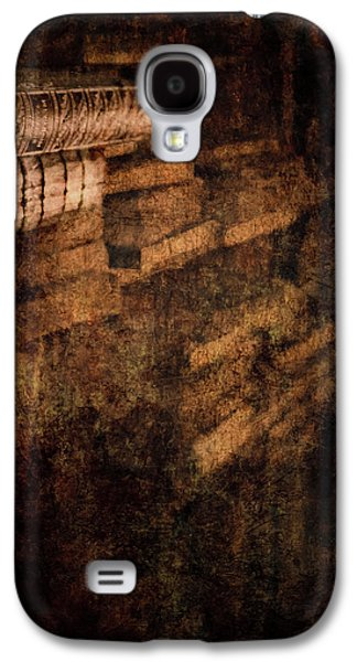 Ancient Galaxy S4 Cases - Antique Books on Dusty Book Shelves Galaxy S4 Case by Loriental Photography