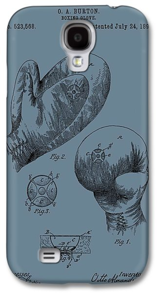 Punching Galaxy S4 Cases - Antique Boxing Gloves Patent Galaxy S4 Case by Dan Sproul