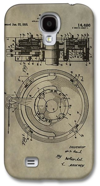 Mechanics Mixed Media Galaxy S4 Cases - Antique Brakes Patent Galaxy S4 Case by Dan Sproul
