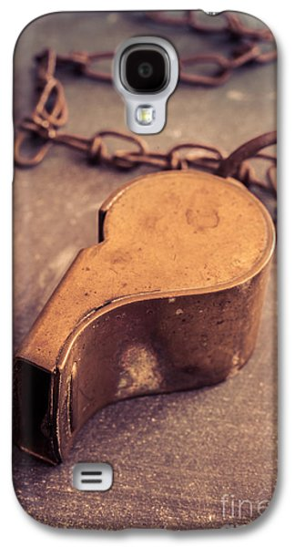 Old Objects Galaxy S4 Cases - Antique Brass Military Whistle Galaxy S4 Case by Edward Fielding