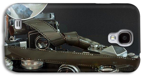 Filmstrip Galaxy S4 Cases - Antique Cameras Galaxy S4 Case by Gunter Nezhoda
