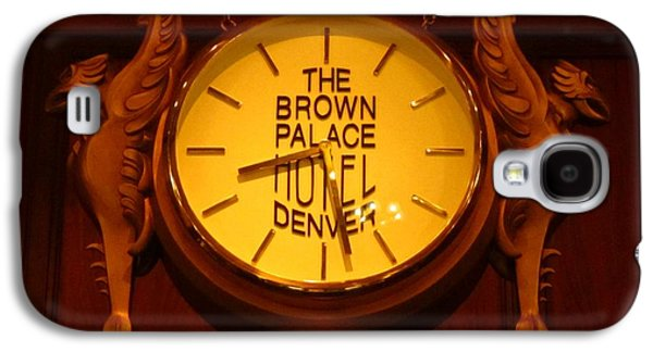 Landmarks Jewelry Galaxy S4 Cases - Antique Clock at the Bown Palace Hotel Galaxy S4 Case by John Malone