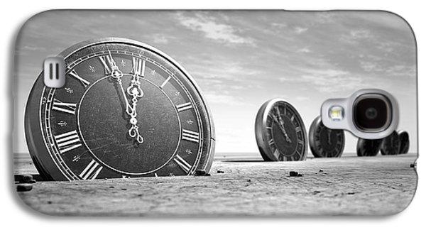 Clock Galaxy S4 Cases - Antique Clocks In The Desert Sand Galaxy S4 Case by Allan Swart