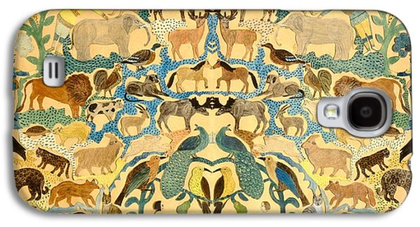 Antique Cutout Of Animals  Galaxy S4 Case by American School