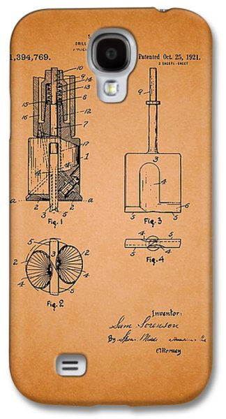 Industrial Drawings Galaxy S4 Cases - Antique Drill Head for Oil Wells Patent Galaxy S4 Case by Mountain Dreams
