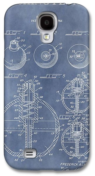Gear Mixed Media Galaxy S4 Cases - Antique Fishing Bobber Patent Galaxy S4 Case by Dan Sproul