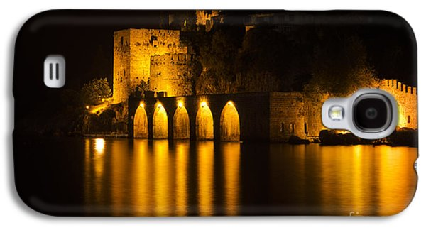 Light Pyrography Galaxy S4 Cases - Antique Fortress in Alanya at Night Galaxy S4 Case by Jelena Jovanovic