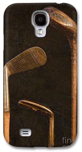Golf Club Photographs Galaxy S4 Cases - Antique Golf Clubs Galaxy S4 Case by Diane Diederich
