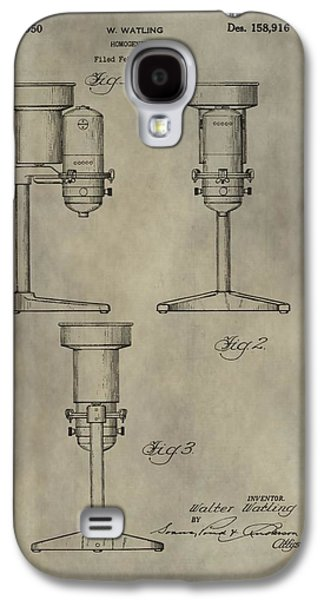 Owner Mixed Media Galaxy S4 Cases - Antique Homogenizer Patent Galaxy S4 Case by Dan Sproul