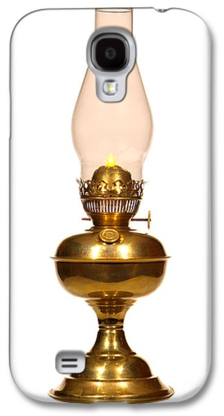 Kerosene Galaxy S4 Cases - Antique Hurricane Lamp Galaxy S4 Case by Olivier Le Queinec