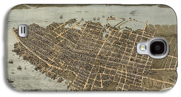Map Drawings Galaxy S4 Cases - Antique Map of Charleston South Carolina by C. N. Drie - 1872 Galaxy S4 Case by Blue Monocle