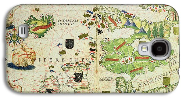 Map Drawings Galaxy S4 Cases - Antique Map of Europe Galaxy S4 Case by Pedro Reinel