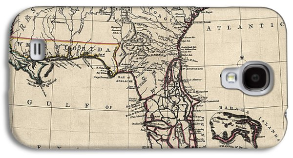 Antique Map Of Florida And The Southeast By Thomas Jefferys - 1768 Galaxy S4 Case by Blue Monocle