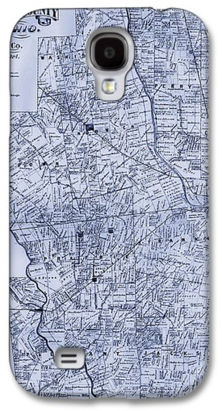 Franklin Drawings Galaxy S4 Cases - Antique Map of Franklin County Ohio 1883 Galaxy S4 Case by Mountain Dreams