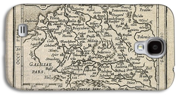 Deutschland Galaxy S4 Cases - Antique Map of Germany by Abraham Ortelius - 1603 Galaxy S4 Case by Blue Monocle