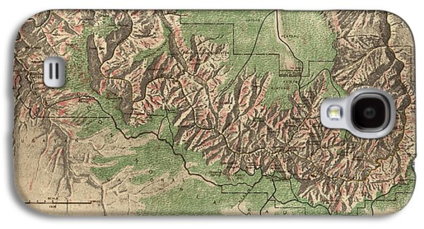 Antique Map Of Grand Canyon National Park By The National Park Service - 1926 Galaxy S4 Case by Blue Monocle