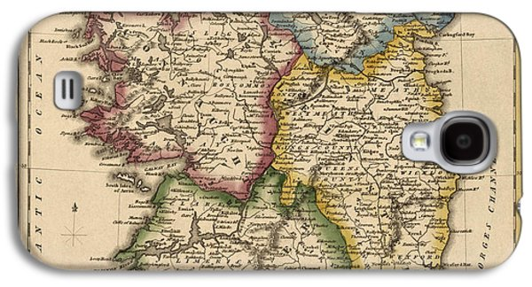 Ireland Galaxy S4 Cases - Antique Map of Ireland by Fielding Lucas - circa 1817 Galaxy S4 Case by Blue Monocle
