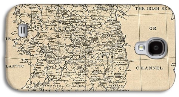 Ireland Galaxy S4 Cases - Antique Map of Ireland by S. Thompson - circa 1795 Galaxy S4 Case by Blue Monocle
