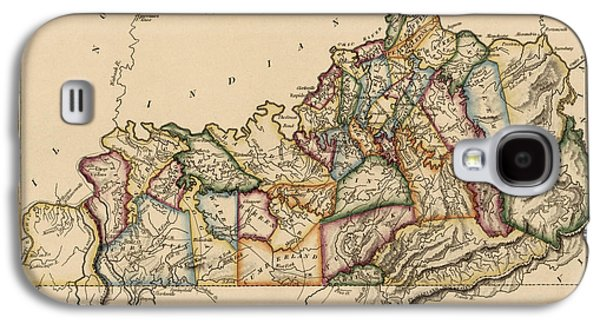 Map Drawings Galaxy S4 Cases - Antique Map of Kentucky by Fielding Lucas - circa 1817 Galaxy S4 Case by Blue Monocle