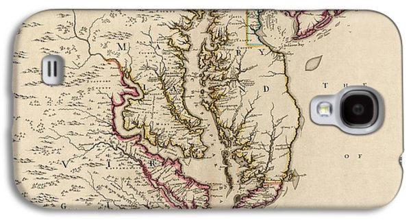 Antique Map Of Maryland And Virginia By John Senex - 1719 Galaxy S4 Case by Blue Monocle
