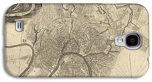 Antique Map Of Moscow Russia By Ivan Fedorovich Michurin - 1745 Galaxy S4 Case by Blue Monocle