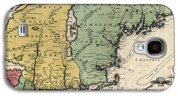 New Drawings Galaxy S4 Cases - Antique Map of New England by Johann Baptist Homann - circa 1760 Galaxy S4 Case by Blue Monocle