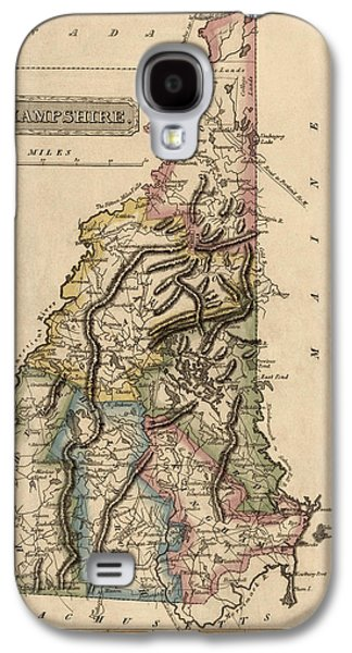 New Drawings Galaxy S4 Cases - Antique Map of New Hampshire by Fielding Lucas - circa 1817 Galaxy S4 Case by Blue Monocle
