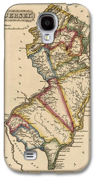 New Drawings Galaxy S4 Cases - Antique Map of New Jersey by Fielding Lucas - circa 1817 Galaxy S4 Case by Blue Monocle