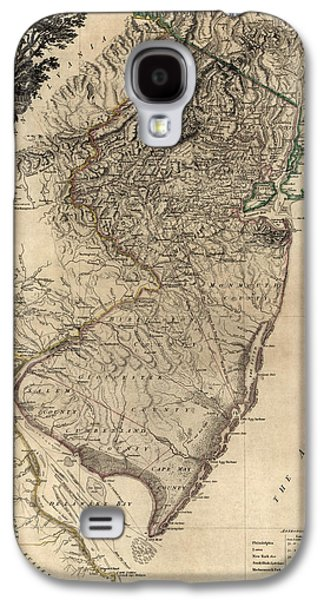 New Drawings Galaxy S4 Cases - Antique Map of New Jersey by William Faden - 1778 Galaxy S4 Case by Blue Monocle