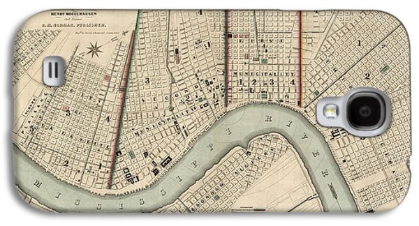 New Drawings Galaxy S4 Cases - Antique Map of New Orleans by Balduin Mollhausen - 1845 Galaxy S4 Case by Blue Monocle
