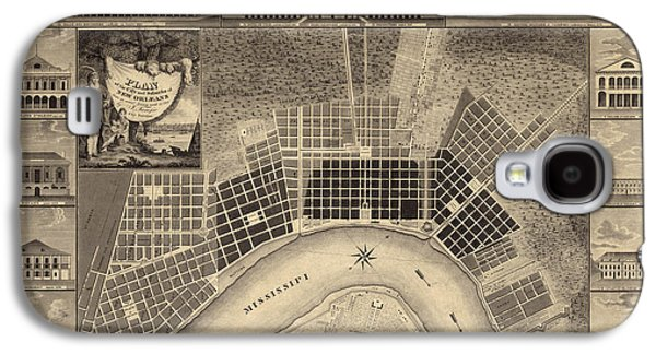 New Drawings Galaxy S4 Cases - Antique Map of New Orleans by I. Tanesse - 1817 Galaxy S4 Case by Blue Monocle
