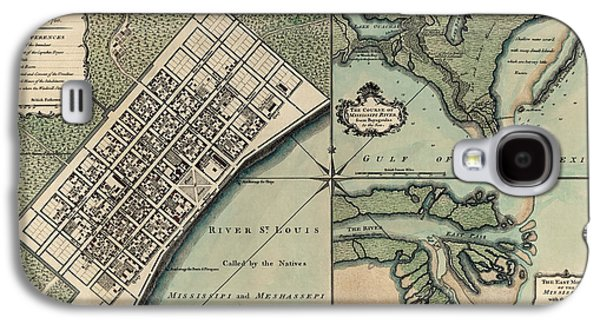 New Drawings Galaxy S4 Cases - Antique Map of New Orleans by Thomas Jefferys - 1759 Galaxy S4 Case by Blue Monocle