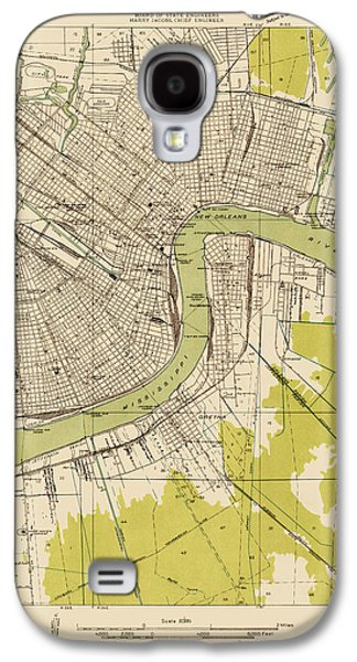 New Drawings Galaxy S4 Cases - Antique Map of New Orleans - USGS Topographic Map - 1932 Galaxy S4 Case by Blue Monocle