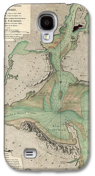 Cities Drawings Galaxy S4 Cases - Antique Map of New York City - 1778 Galaxy S4 Case by Blue Monocle