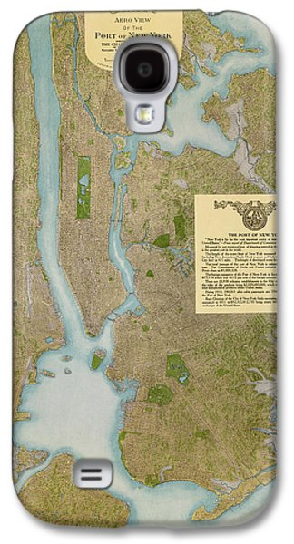 Cities Drawings Galaxy S4 Cases - Antique Map of New York City by C. P. Gray - 1913 Galaxy S4 Case by Blue Monocle